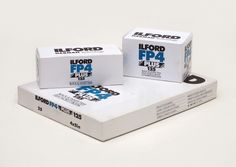 Ilford FP4 Plus in 35mm, medium format rollfilm and large format sheet film.