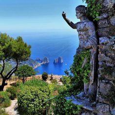 Statue of Emperor Augustus, Monte Solaro,Capri,Italy.