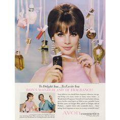1964 Avon Cosmetics Ad Fragrance Vintage Perfume Advertisement Beauty... ($8.95) ❤ liked on Polyvore featuring home, home decor, wall art, avon, vintage home accessories, vintage home decor and vintage wall art