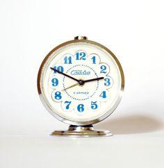 Vintage blue alarm clock