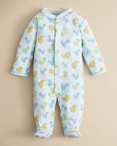 Kissy Kissy Infant Boys' Allover Dino Print Footie - Sizes 0-9 Months | Bloomingdale's