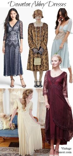 Downton Abbey dresses. Day or evening. What gown is the one for you?