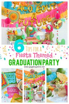 6 tips for a Fiesta Themed Graduation Party! #graduationparty #fiesta #partyideas #parties #graduation #gradparty