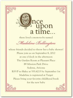 Storybook Start - Baby Shower Invitations - Hello Little One - Medium Pink #TopPin