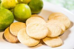 Lemon and lime butter biscuits. Butter Biscuits Recipe, Biscuit Recipe, Lime Recipes, Snack Recipes, Rhubarb Pudding, Donna Hay Recipes, Lemon Icing, Chocolate Mug Cakes, Lemon Butter
