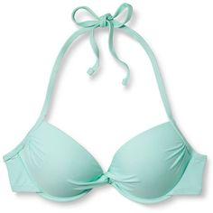 Women's Push Up Halter Bikini Top - Xhilaration™ : Target ❤ liked on Polyvore featuring swimwear, bikinis, bikini tops, push up swim top, push-up bikinis, push up swimsuit tops, push up tankini top and halter bikini