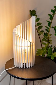 Excited to share the latest addition to my shop: Wooden lamp-White lamp-Table lamp-Desk lamp-Tower lamp-Home decor-Desk accessories Wood Desk Lamp, Wooden Lamp, Wooden Diy, White Bedside Lamps, White Table Lamp, Bedside Desk, Lamp Table, Laser Cut Lamps, Luminaire Vintage