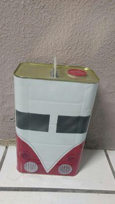 Kombi corujinha de lata de thinner