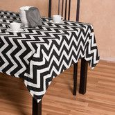Found it at Wayfair - Chevron Square Cotton Tablecloth