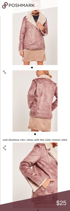 Brand new Classic Pilot Jacket from Missguided This jacket is brand new from Missguided. Size S and fits true to size. Great in cold weather 👌🏾. OFFERS ARE WELCOME!!! Jackets & Coats