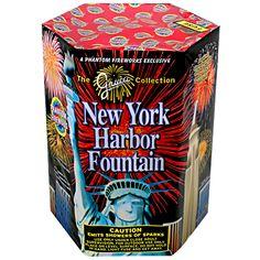 Phantom Fireworks® New York Harbor Fountain #fireworks #phantomfireworks #grucci