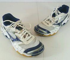MIZUNO Wave Bolt Women's Athletic Running Shoes Sneaker Sz 7.5 Blue White #Mizuno #RunningCrossTraining
