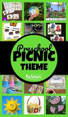 Preschoolers will have fun learning with this super cute Picnic Preschool Theme! So many fun, clever ideas for a weeks worth of crafts, activities, math, and more! Picnic Activities, Summer Preschool Activities, Pre K Activities, Preschool Themes, Preschool Learning, Preschool Crafts, Fun Learning, Picnic Theme, Daycare Ideas