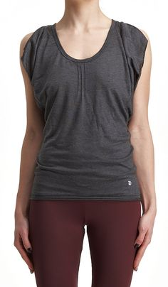 Butterfly Yoga Tank Top Deep Gray Racer Back Top by AryaStyles