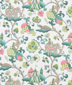 playroom - P. Kaufmann Sultans Walk Emerald Fabric
