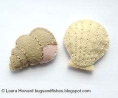 Bugs and Fishes by Lupin: How To: Make Mini Felt Shells