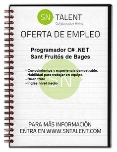 #Programador C# .NET en #Sant #Fruitós de Bages