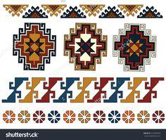 set of Armenian ornaments