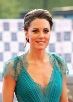 Kate Middleton...another favorite dress.  The color is perfect on her