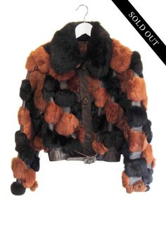 Rabbit Fur and Leather Cropped Jacket Rabbit Fur, Fur Coat, Leather, Jackets, Vintage, Fashion, Down Jackets, Moda, Fashion Styles