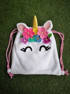 Unicorn backpack kids backpack unicorns backpack f Unicorn Kids, Unicorn Crafts, Diy Unicorn Bag, Fabric Crafts, Sewing Crafts, Sewing Projects, Cute Crafts, Crafts For Kids, Etsy Fabric