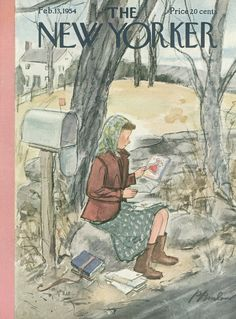 The New Yorker - Saturday, February 13, 1954 - Issue # 1513 - Vol. 29 - N° 52 - Cover by : Perry Barlow