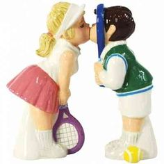 Tennis Couple Wedding Cake Topper
