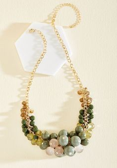 Baubles of Fun Necklace. Accessorize with this statement necklace and treat yourself to a day of complete enjoyment! #gold #modcloth