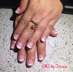 SNS French Nails by Jessica @ Angel Nail Spa .