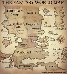 Brilliant Spoofs of the Classic Fantasy Novel Map.. Just missing Camolot, and dharma and Westland and the Midlands