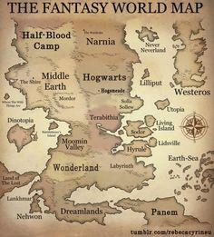 happy harry potter map