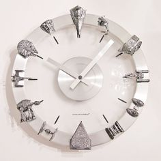 Favorite  Like this item?    Add it to your favorites to revisit it later.  Star Wars Clock Starships and Fighters Clock
