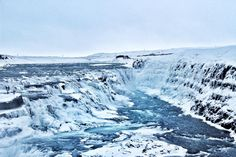This truely is the Land of Ice - at Gulfoss Waterfall | Iceland  by sarahgossy