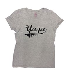 Yaya Since 2015 T-Shirt. Personalize it with Any Year youd like! Great Mothers Day Gift!  Loves this design? Check out our other Family Shirts: