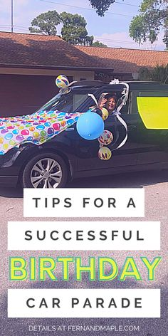 These tips will help you throw a safe and socially distant birthday celebration! A car parade is a great and fun way to party with friends and family while keeping distance or during quarantine, and still making the birthday boy or girl feel special. Get tips on planning, set up, decorations, and more at fernandmaple.com!