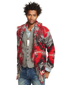 Fringed Shawl-Collar Cardigan - Denim & Supply  Cardigan & Full-Zip - RalphLauren.com