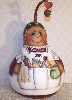 free images to paint on gourds | Ginger Gourd Painting Pattern 2 | eBay