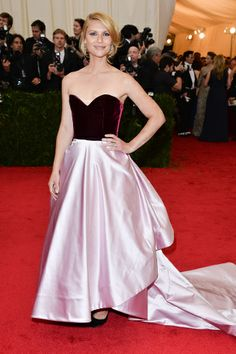 Red carpet del Costume Institute Gala 2014: Claire Danes en Oscar de la Renta