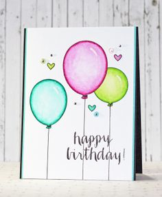 Great clean and simple card httpstampinfluffnstuffspot happy birthday m4hsunfo