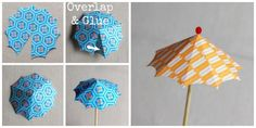 diy cocktail umbrella steps from www.alyssaandcarla.com