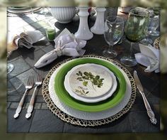Tablescape:  Robin Flies South...: Parsley, sage, rosemary etc.