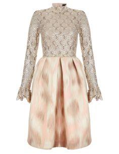 Pink Ikat Lace Dress | Giles | Avenue32