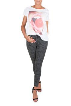 Jeans Domino Wave GREY USED - Jeans - Kläder - Raglady