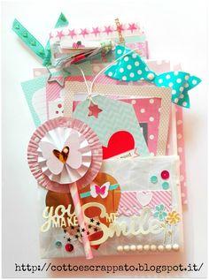 Cotto e Scrappato: Happy Mail e Pocket Letter per Lisa Pochette Surprise, Baby Mini Album, Pocket Envelopes, Pocket Letters, Happy Mail, Scrapbook Paper Crafts, Cute Crafts, Paper Cards, Book Crafts