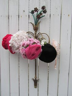 Antique Italian Tole Store Hat Display Rack Stand by VannasArmoire, $225.00