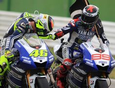 It was the complete #Misano moment at #MotoGP when #JorgeLorenzo won, #ValentinoRossi chased, and #MarcMarquez and #DaniPedrosa battled. Read more here http://ridingfastandflyinglow.com/2013/09/15/the-misano-moment-motogp-race-notes/  Image courtesy Yamaha Racing Team (for editorial use only)