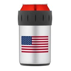 American Flag Thermos® Can Cooler