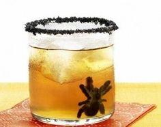Sugar Black Spiders | Black food dye and sugar, press into mold, leave overnight | Sugar Crystal Black Spiders