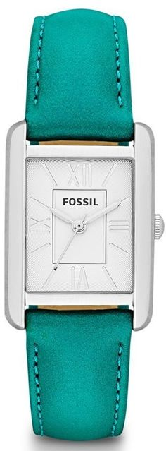 Fossil Watches, Women's Florence Three Hand Leather Watch - Teal #ES3375