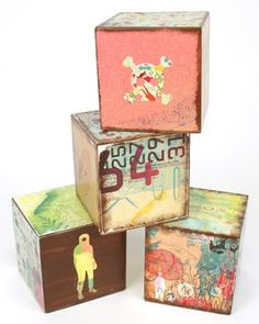 """See the """"Wooden Baby Blocks"""" in our Decoupage Crafts  gallery"""